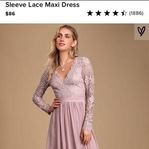 Lulu's Dusty Lavender Long Sleeve Dress